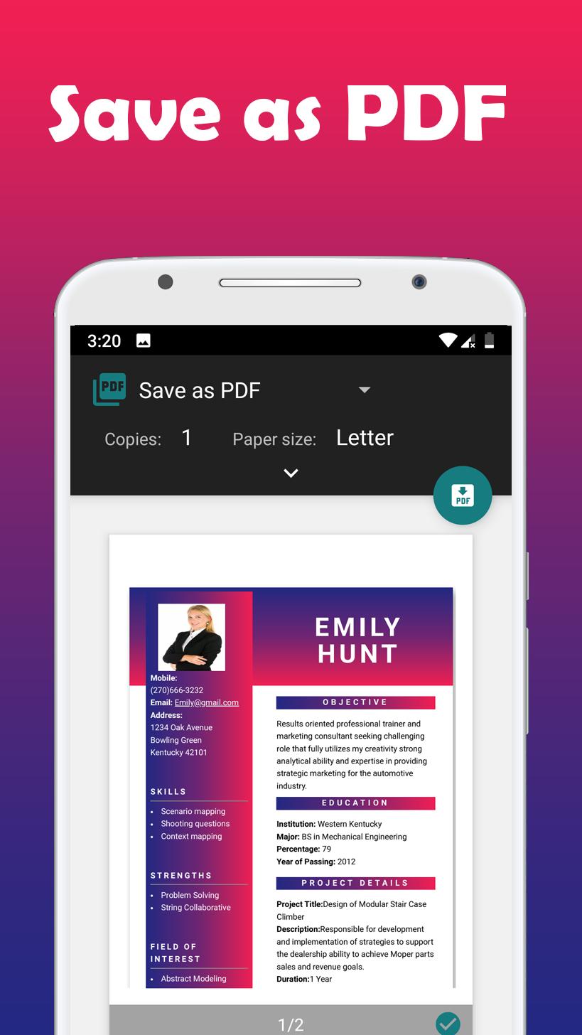 resume builder free cv maker app apk 3 4 download for