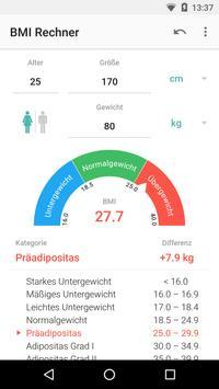 BMI Rechner Screenshot 1
