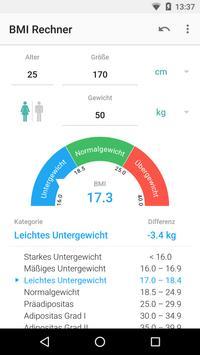 BMI Rechner Screenshot 2