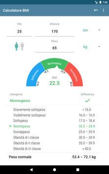 6 Schermata Calcolatore BMI