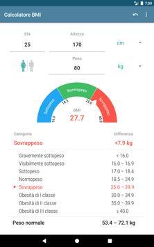 7 Schermata Calcolatore BMI