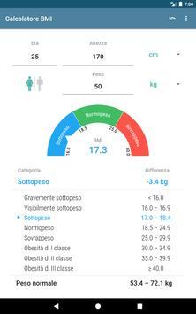 8 Schermata Calcolatore BMI