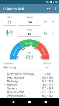 Kalkulator BMI plakat
