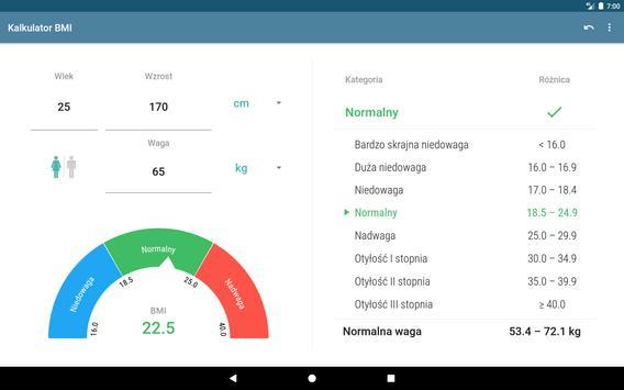 Kalkulator BMI screenshot 3