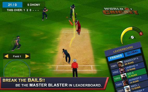 World of Cricket تصوير الشاشة 1