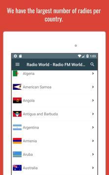 Radio World - Radio Online + World Radio Stations screenshot 8