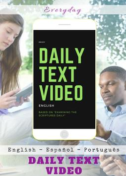 Daily Text 2019 on video poster