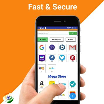 Indian Browser - Fast & Secure poster
