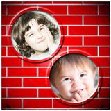 Wall Dual Photo Frames