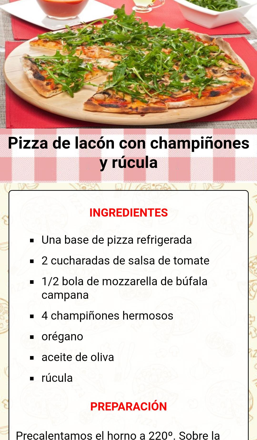 Recetas De Pizzas Caseras For Android Apk Download