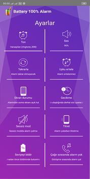 Battery 100% Alarm Ekran Görüntüsü 2