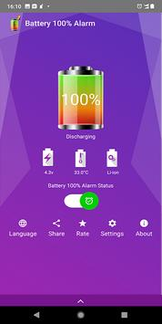 Battery 100% Alarm poster