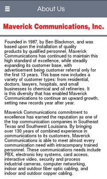 Maverick Communications Inc screenshot 1