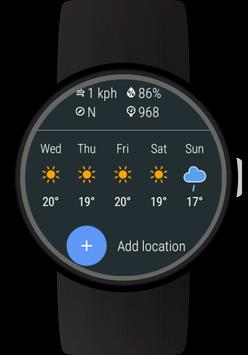 Weather for Wear OS (Android Wear) screenshot 1