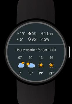 Weather for Wear OS (Android Wear) screenshot 2