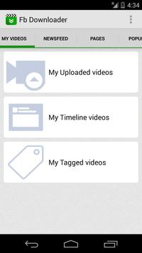 Video download for facebook screenshot 1