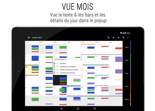 Agenda Business・Calendrier, Organisation, Planning capture d'écran 11