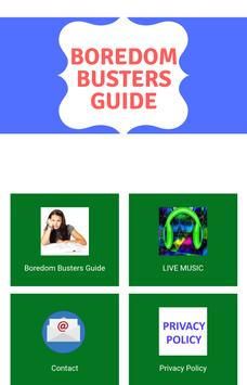 Boredom Busters Guide poster