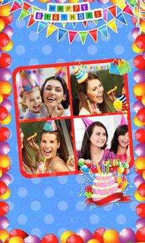 Birthday Photo Collage Maker poster