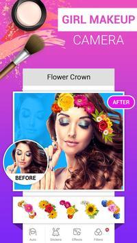 Girl Makeup Camera - Beauty Photo Editor 2019 screenshot 1