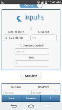 Evaporative Cooling Calculator screenshot 1