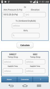 Evaporative Cooling Calculator screenshot 2