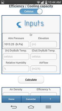 Evaporative Cooling Calculator screenshot 3