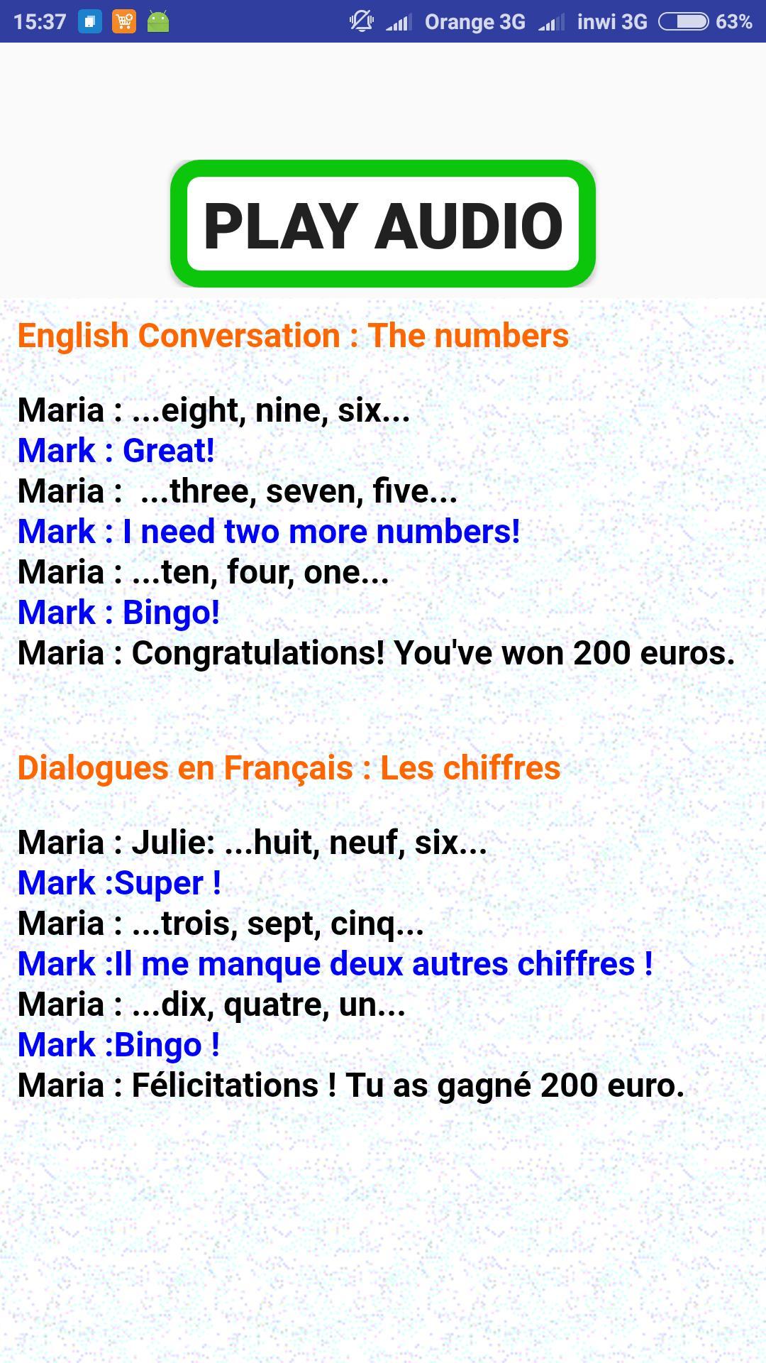 Dialogues Français Anglais Pour Android Téléchargez Lapk