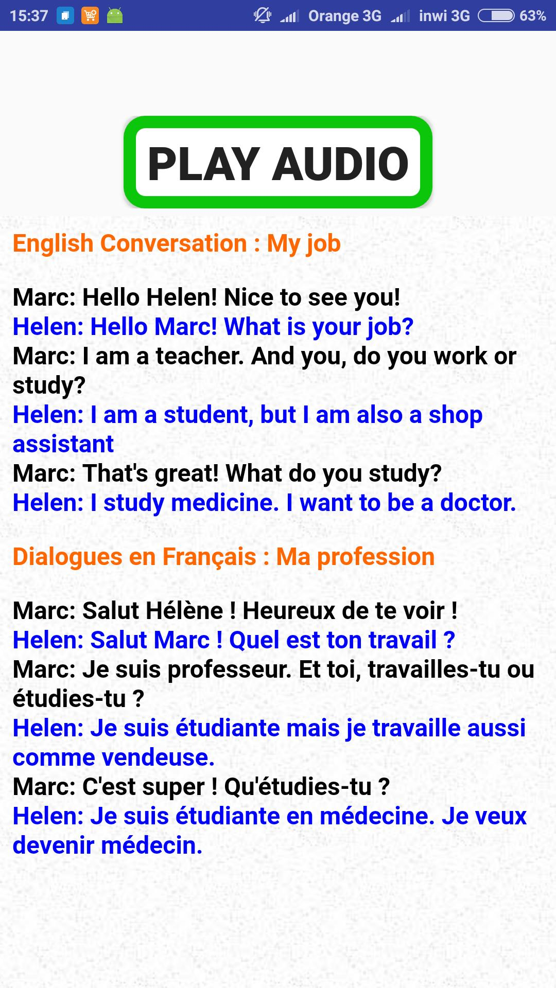 conversation english french for Android - APK Download