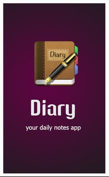 Diary - daily notes poster