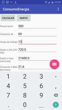 consumo energético electrodoméstico screenshot 1