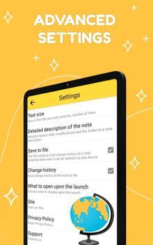 Smart Notepad Notes - Quick Note, Shopping List تصوير الشاشة 14