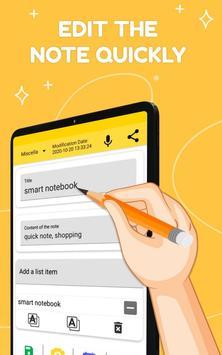 Smart Notepad Notes - Quick Note, Shopping List تصوير الشاشة 9