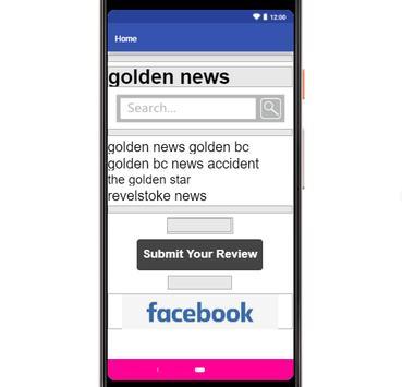 golden news poster