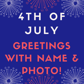 Name on 4th of July Greeting Cards icon