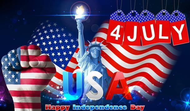Name on 4th of July Greeting Cards poster