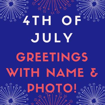 Name on 4th of July Greeting Cards screenshot 1