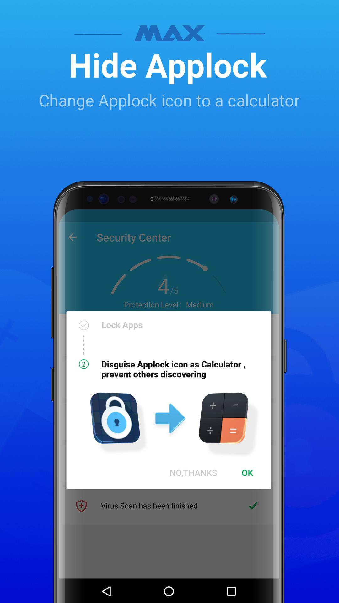 MAX AppLock - App Locker, Security Center for Android - APK