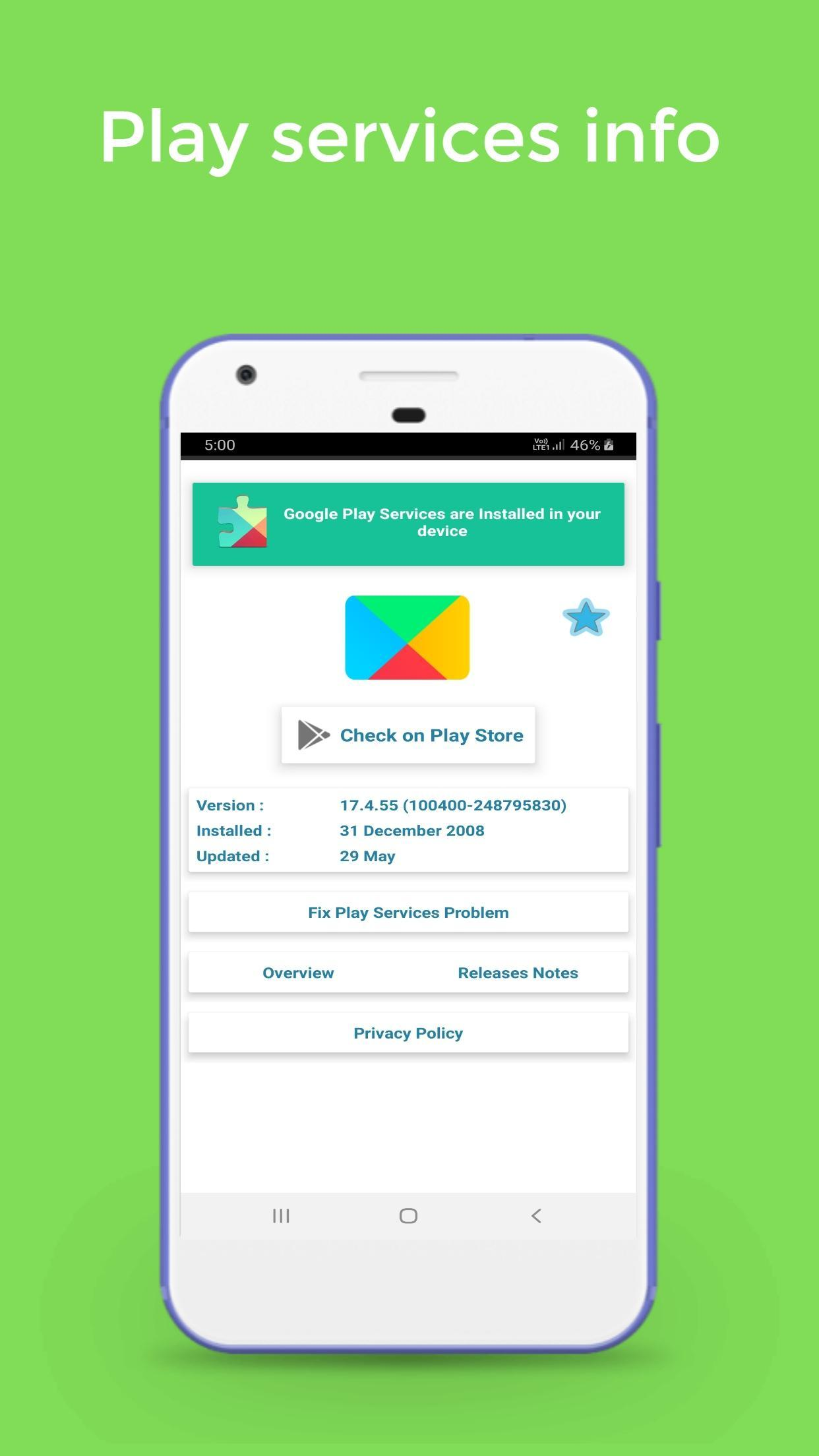 Play Service 2019 - Check New Update & Fix Error for Android