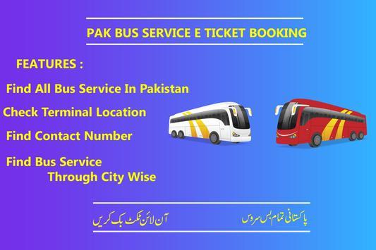 Pak Bus Service Seats Booking  2019 poster