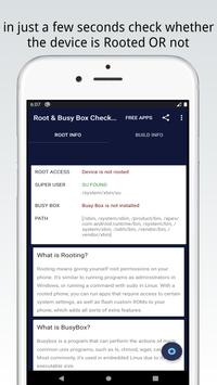 Root & BusyBox Checker - Root Checker & Build Info poster