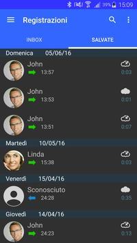 5 Schermata Registratore di chiamate