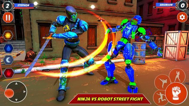 Game pertempuran robot Ninja screenshot 9