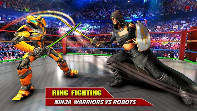 Game pertempuran robot Ninja screenshot 16