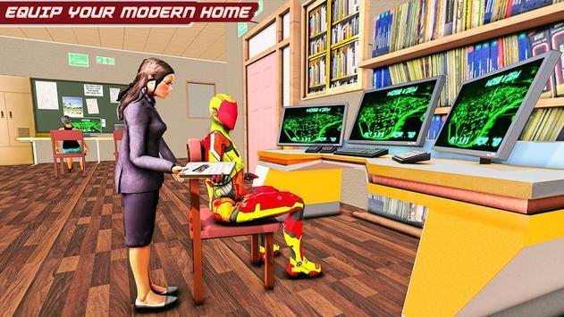 Flying Robot Rope Hero screenshot 5