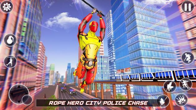 Flying Robot Rope Hero screenshot 14