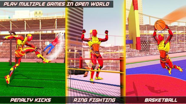 Flying Robot Rope Hero screenshot 9