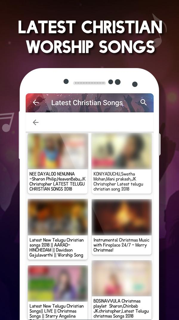 Christian songs & music : Gospel music video for Android