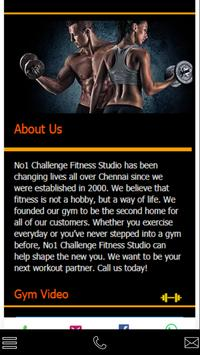 No1 Challenge Fitness poster