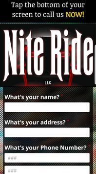 Nite Ride Cab poster